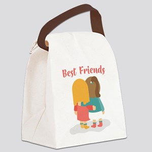 Best friends Canvas Lunch Bag