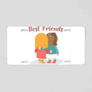 Best friends Aluminum License Plate