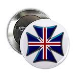 British Biker Cross Button
