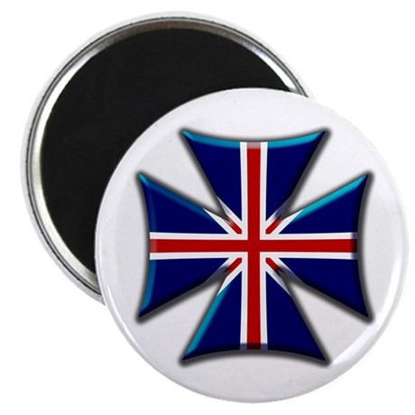 British Biker Cross Magnet