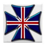 British Biker Cross Tile Coaster