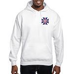 British Biker Cross Hooded Sweatshirt