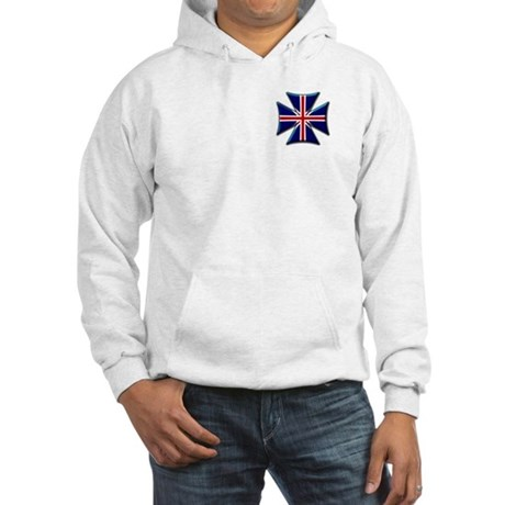 British Biker Cross Hooded Sweatshirt
