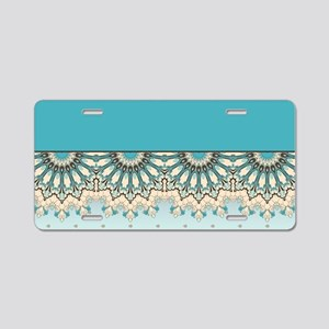 Elegant Pattern Aluminum License Plate