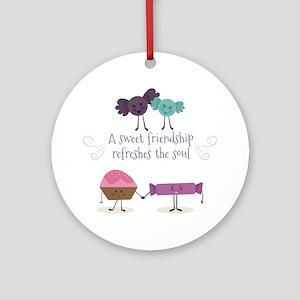 Best friends Round Ornament