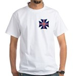 British Biker Cross White T-Shirt