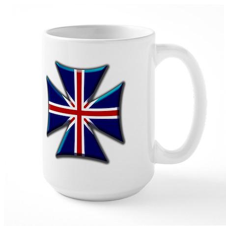 British Biker Cross Large Mug