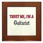 Trust Me I'm a Guitarist Framed Tile