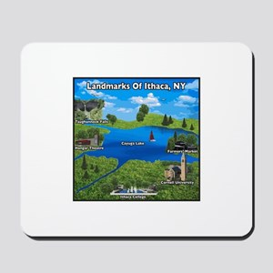 Landmarks of Ithaca, NY new design Mousepad