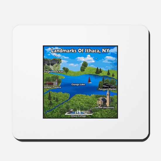 Landmarks of Ithaca, NY new design Mousepad