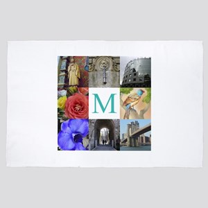 Your Photos and Monogram 4' x 6' Rug