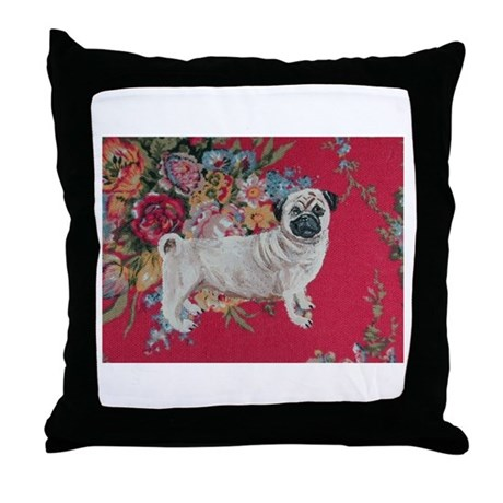 PERFECTLY PRETTY PEONY PUG PILLOW