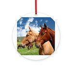2 Horses Keepsake (Round)