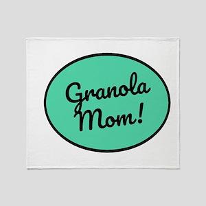 Granola Mom Throw Blanket