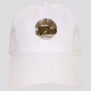 Merry Christmas Vintage Tractor Cap
