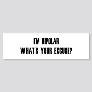 Excuse Bumper Sticker