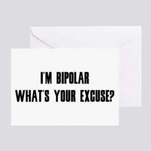 Excuse Greeting Card