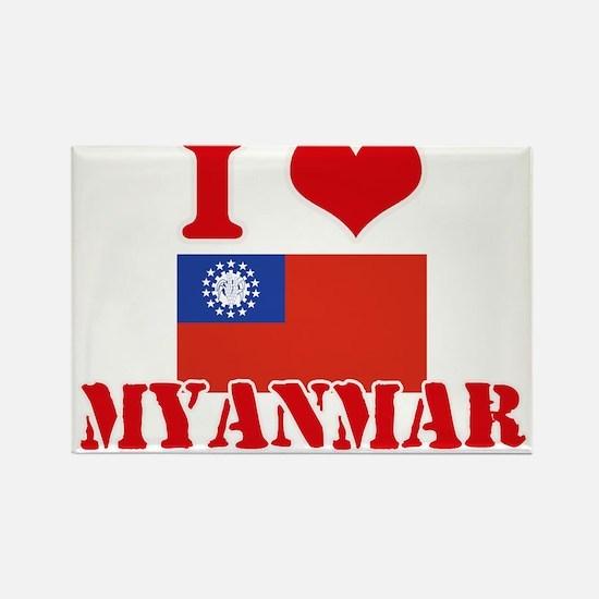 I Love Myanmar Magnets