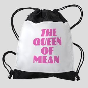 Queen of Mean Drawstring Bag