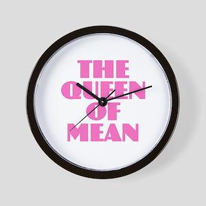 Queen of Mean Wall Clock