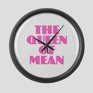 Queen of Mean Large Wall Clock