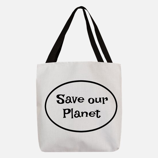 Save our Planet Polyester Tote Bag