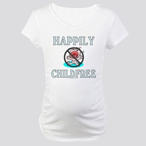 Happily childfree (maternity t-shirt)