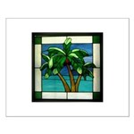 3 Palms in Stained Glass Small Poster
