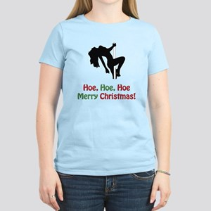 Hoe, Hoe, Hoe. Merry Christm Women's Light T-Shirt