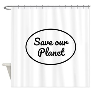 Protect Planet Shower Curtains