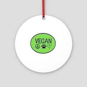 Vegan Round Ornament