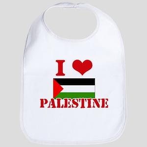 I Love Palestine Baby Bib