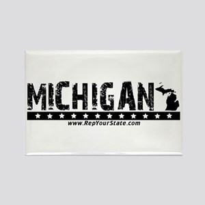 Michigan Rectangle Magnet