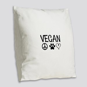 Vegan Burlap Throw Pillow