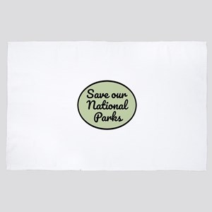 Save Our National Parks 4' x 6' Rug