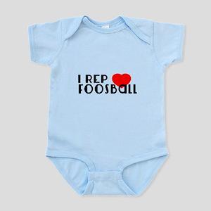 I Rep Foosball Sports Designs Baby Light Bodysuit