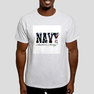 Navy (usa flag) Ash Grey T-Shirt