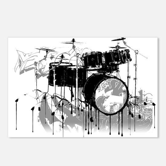 Drum Set Graffiti Postcards (Package of 8)