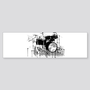 Drum Set Graffiti Bumper Sticker