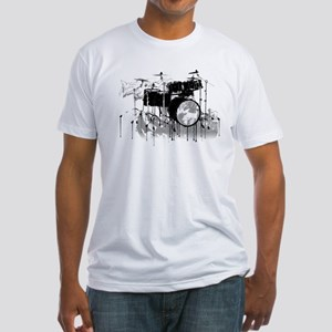 Drum Set Graffiti Fitted T-Shirt