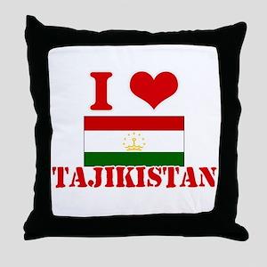 I Love Tajikistan Throw Pillow