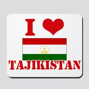 I Love Tajikistan Mousepad