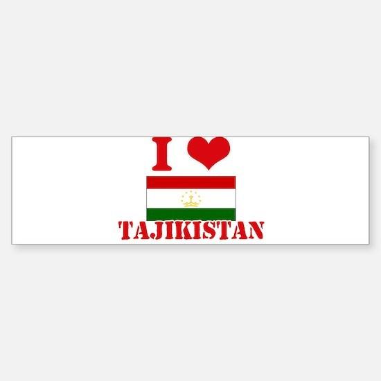 I Love Tajikistan Bumper Bumper Bumper Sticker