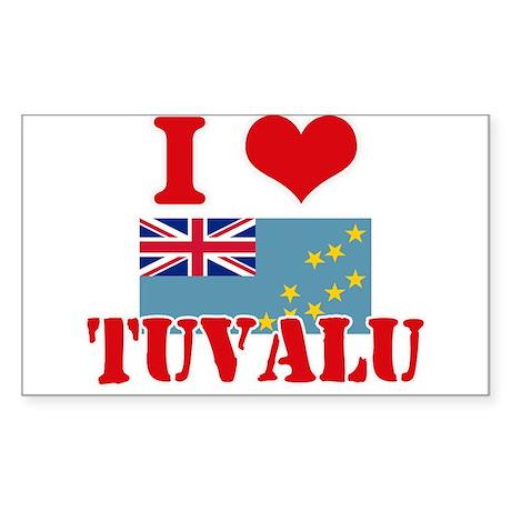 I Love Tuvalu Sticker