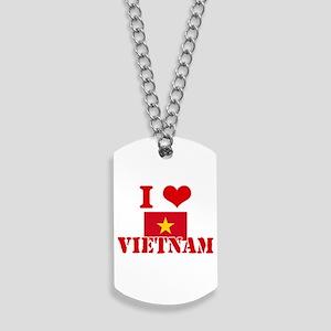 I Love Vietnam Dog Tags