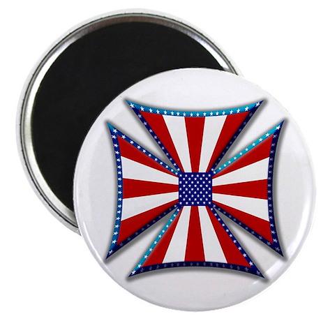 American Maltese Cross Magnet