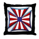 American Maltese Cross Throw Pillow