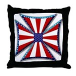 American Maltese Cross Throw Pillow