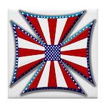 American Maltese Cross Tile Coaster