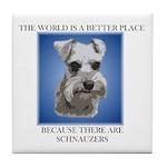 World is a Better (blue)- Tile Coaster